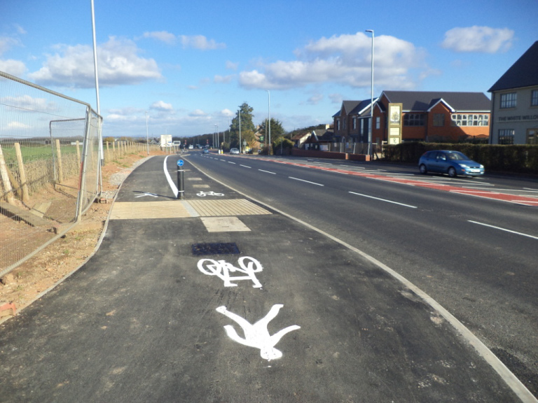 A38 new cycletrack