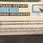 You can report any close passes on the special website  about near misses.