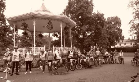 Cyclists of all ages celebrated the anniversary of the Foxglove Trail on Saturday 5 October 2019