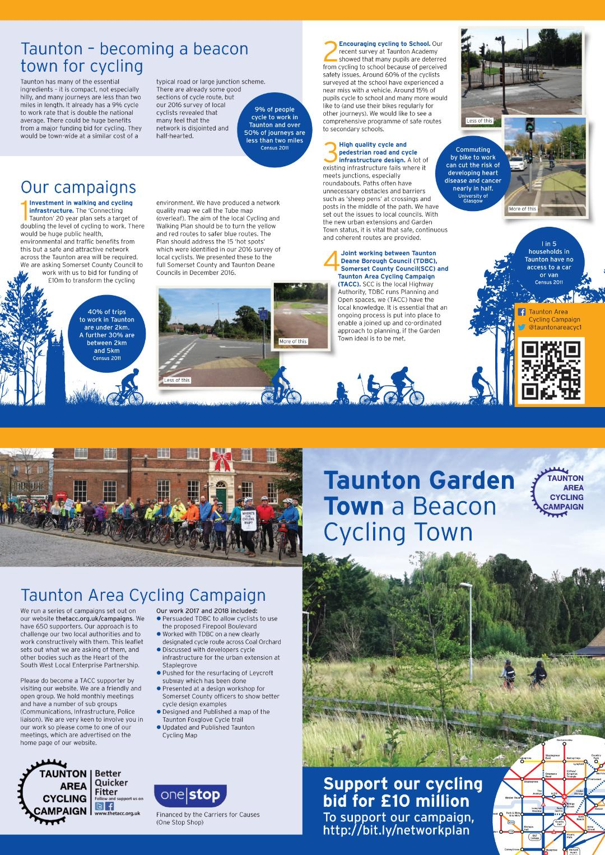Taunton Area Cycle Network Upgrade Campaign   TACC Taunton ...