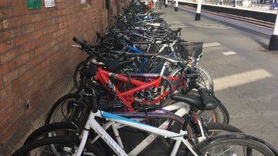 More cycle racks installed at Taunton railway station.