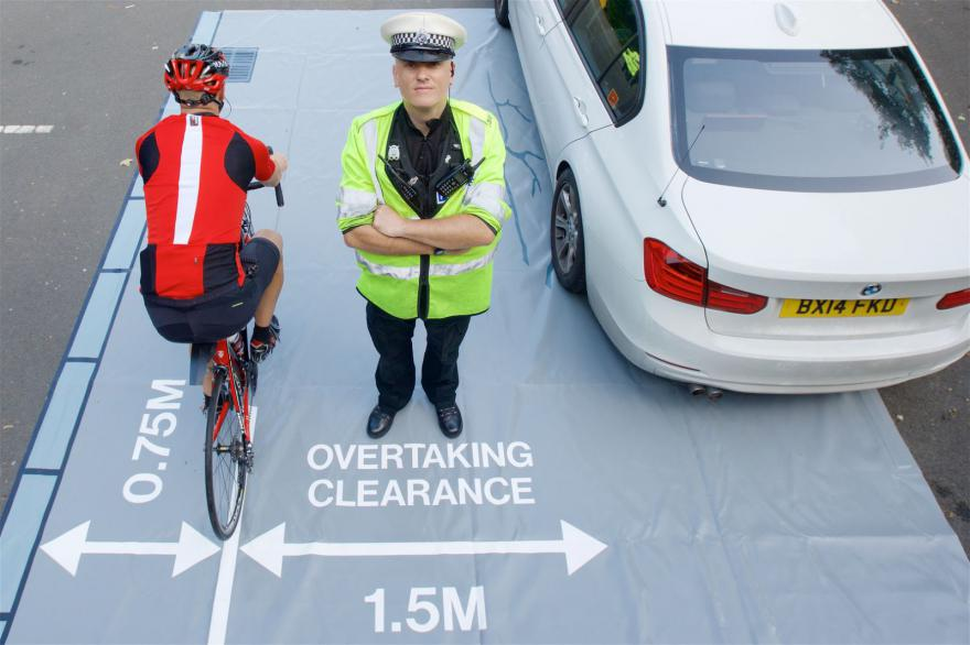 Educating drivers of motorised vehicles to allow enough space when overtaking cyclists.