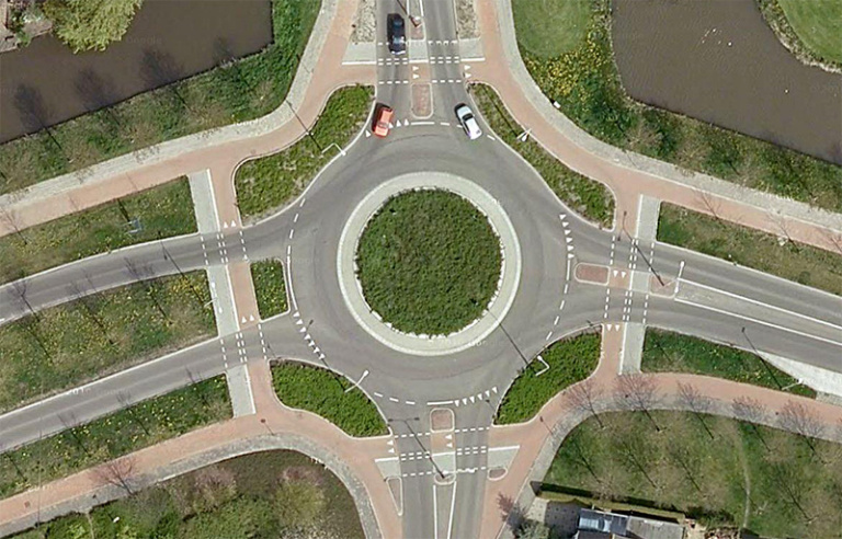 Roundabout is no priority