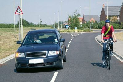 Leave at least 1.5m space between car and cyclist
